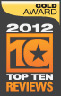 2012 Top Ten Reviews Gold Award